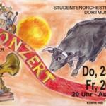 Plakat von Agnes Adam – Studentenorchester Konzert SoSe 2015