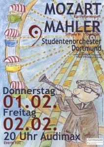 Studentenorchester Dortmund Konzertplakat Wintersemester 2017/18